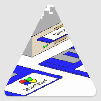Floppy Disks Triangle Stickers