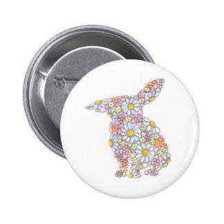 Floppy-Eared Bunny Pinback Button