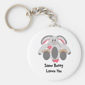 Floppy Rabbit With Saying Key Ring