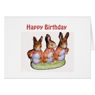 Flopsy, Mopsy and Cottontail Card