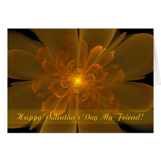 Flor de la Alegría Valentine's Friend Card