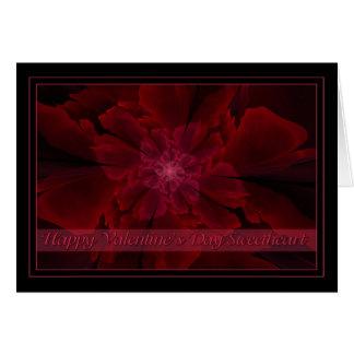 Flor de la Lujuria Valentine Sweetheart Card