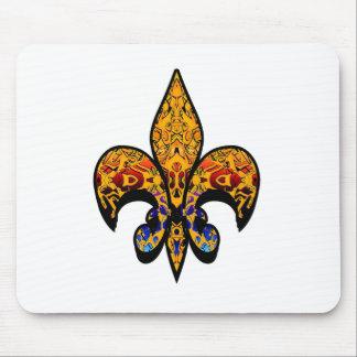 flor de lis mouse pad