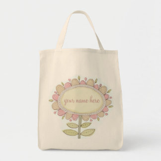 flora73..... personalise this tote with a name grocery tote bag