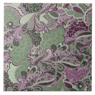Flora and Fauna Paisley Tile