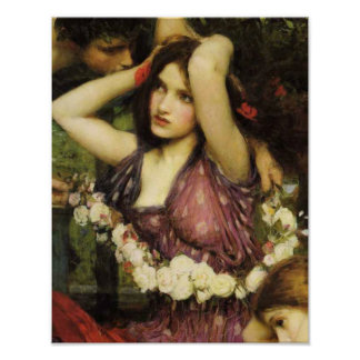 Flora and the Zephyrs detail By John W. Waterhouse Poster