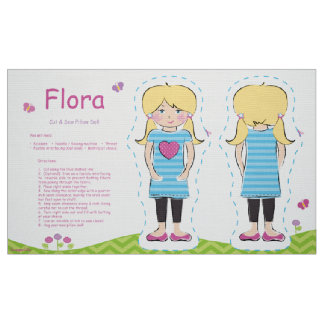 Flora Cut & Sew Pillow Doll Fabric