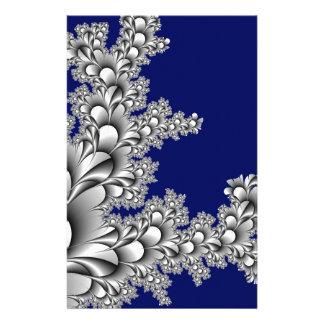 Flora Flower Blue Background Stationery Design