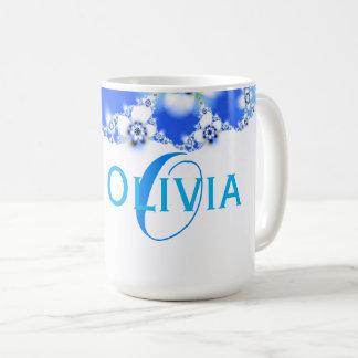 Flora Fractal Abstract Name Text Coffee Mug