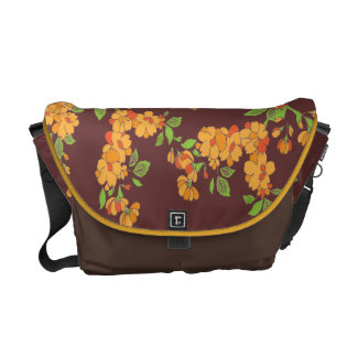 flora pattern courier bags