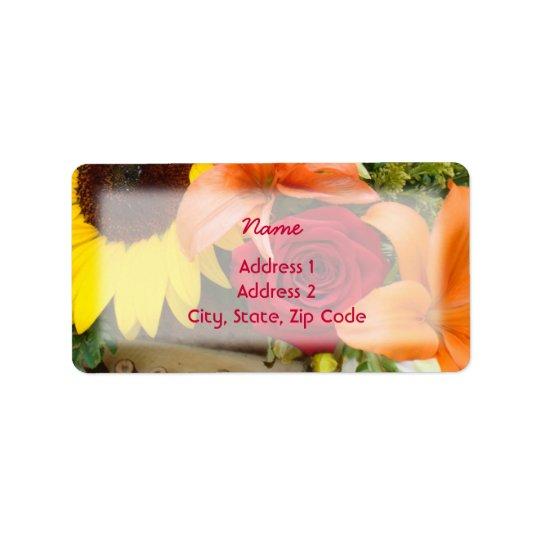 Floral02 - Label Address Address Label