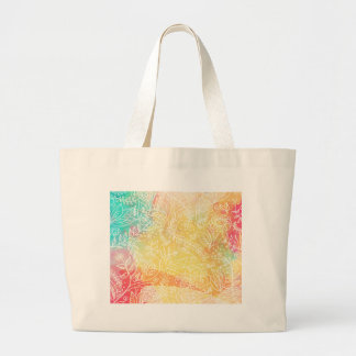 floral-01 large tote bag