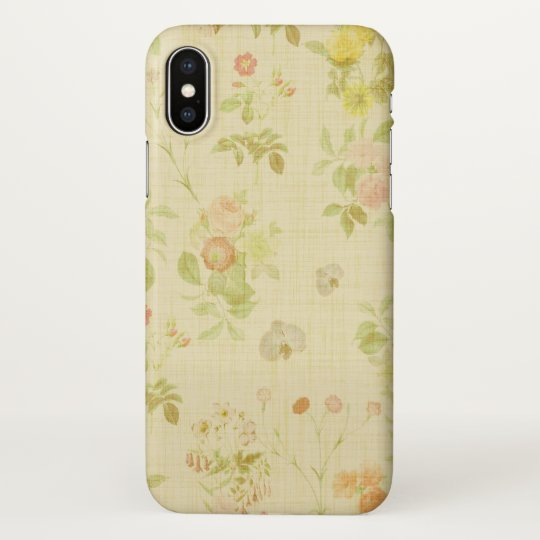 Floral 1 iPhone X Glossy Case