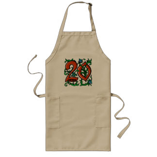 Floral 20th Birthday Gifts Long Apron