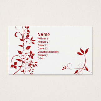 Floral 22 business card