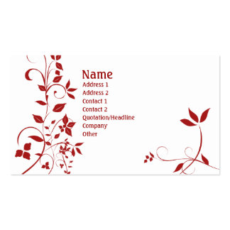 Floral 22 pack of standard business cards