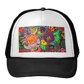 FLORAL ABSTRACT CAP