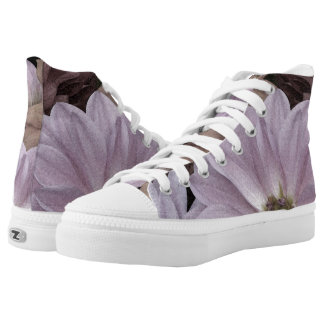 Floral Abstract Dahlia Garden Flowers High Tops