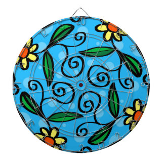Floral Abstract Dartboard