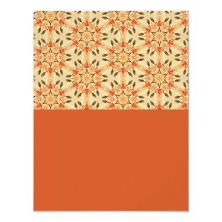 Floral Abstract in Peach 11 Cm X 14 Cm Invitation Card