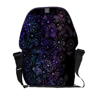 Floral abstract. messenger bag
