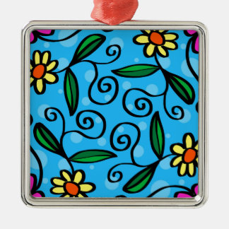Floral Abstract Metal Ornament