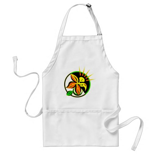 Floral Abstract Paint Apron