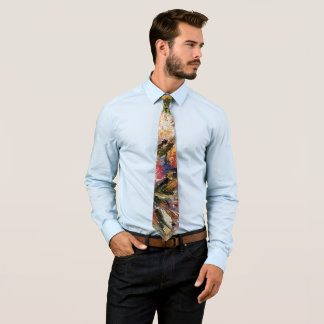 Floral abstract print tie