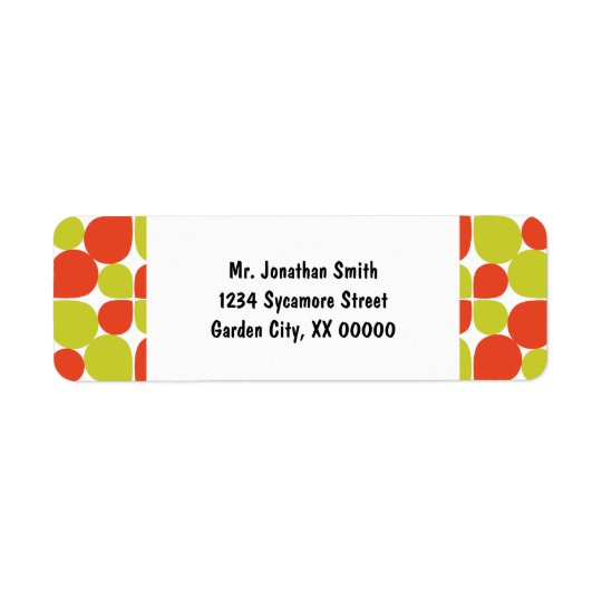 Floral Abstract Retro Pattern Return Address Label
