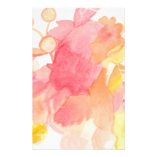 Floral Abstract Stationary Stationery