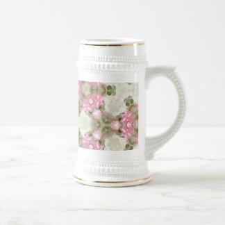 Floral Abstract Vintage Inspired Botanical Pattern Beer Steins