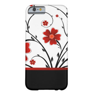 floral abstract with black bar barely there iPhone 6 case