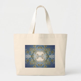 Floral abstraction jumbo tote bag