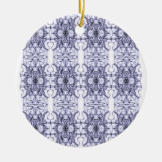 Floral abstraction round ceramic decoration