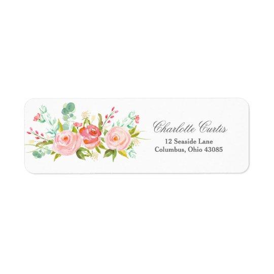 Floral Address Label
