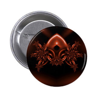 Floral alien mask pin