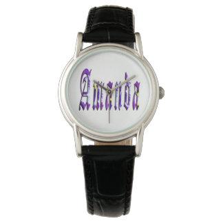 Floral Amanda Girls Name Logo, Watch
