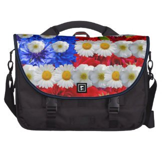 floral american flag,american flag,united states laptop bags