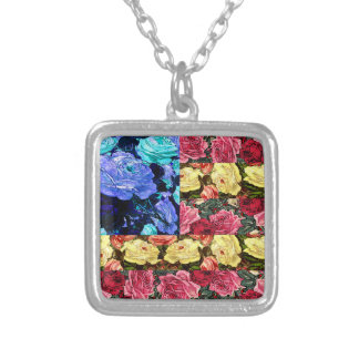 floral american flag pendants