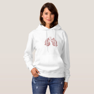 Floral Anatomical Lungs Illustration Hoodie