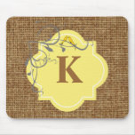 Floral and burlap monogrammed