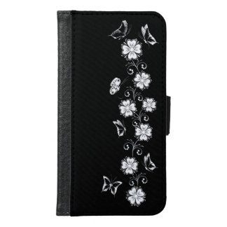 Floral and Butterflys_06 Samsung Galaxy S6 Wallet Case