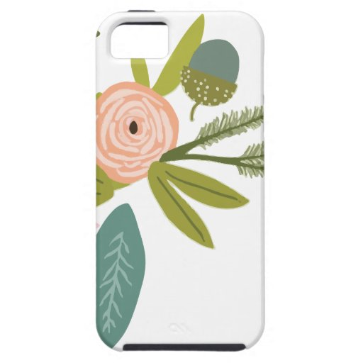 Floral and Fauna Cover For iPhone 5/5S