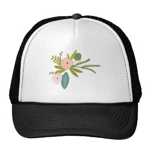 Floral and Fauna Mesh Hat