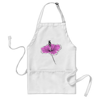 Floral and pink standard apron