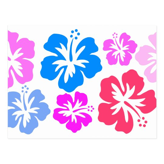 Floral and pink postcard