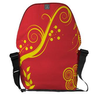 Floral and Swirls Messenger Large Bag Messenger Bags
