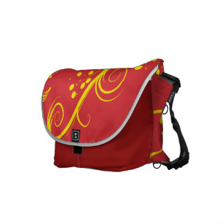 Floral and Swirls Messenger Medium Bag Courier Bags