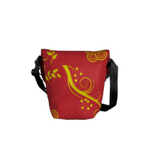 Floral and Swirls Messenger Mini Bag Messenger Bags