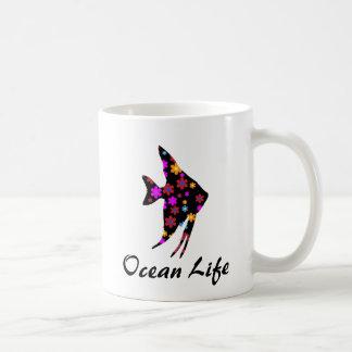 Floral Angel Fish Ocean Life Mug
